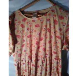Bobbie Brooks Plus Size 26/28 Dress Floral Yellow